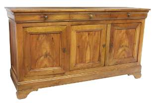 FRENCH LOUIS PHILIPPE FRUITWOOD SIDEBOARD