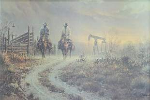 G. HARVEY LIMITED PRINT 'RANCHING PUMP JACK STYLE'