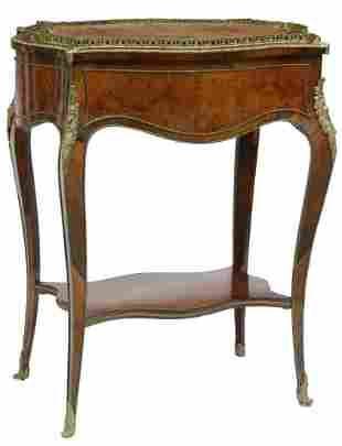 FRENCH NAPOLEON III JARDINIERE/ SEWING TABLE