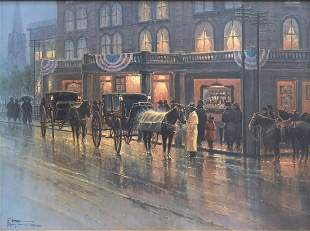 G. HARVEY LIMITED-EDITION PRINT 'GRAND OPENING'