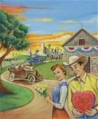 BRAD SMITH (TX) DALLAS HEARTBALL ILLUSTRATION ART