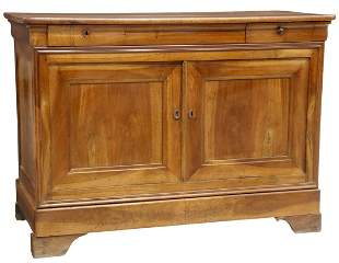 FRENCH LOUIS PHILIPPE PERIOD WALNUT SIDEBOARD