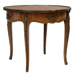 LOUIS XV STYLE MARBLE-TOP SIDE TABLE