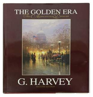 SIGNED G. HARVEY ILLUSTRATED BOOK 'THE GOLDEN ERA'