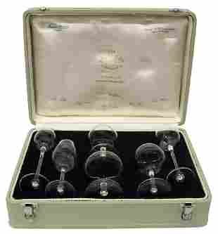MOSER CLUB'S PHYSIOGNOMICAL TOASTING SNIFTERS SET