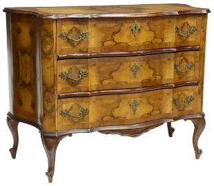 VENETIAN PATCHWORK THREE-DRAWER COMMODE