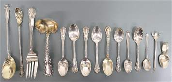 (15) ASSORTED STERLING SILVER FLATWARE, 13.03OZT