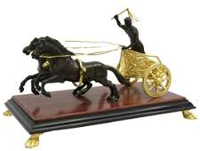 GRAND TOUR BRONZE MODEL OF A ROMAN CHARIOTEER