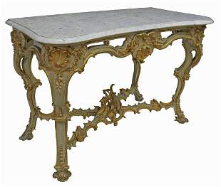 FRENCH LOUIS XV STYLE MARBLE-TOP CONSOLE TABLE