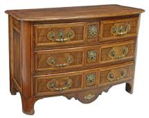 FRENCH LOUIS XIV STYLE WALNUT COMMODE
