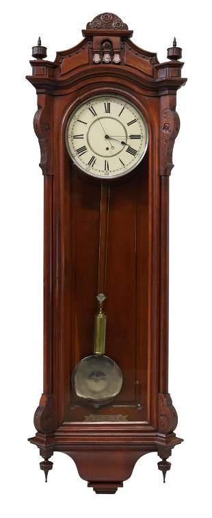 LARGE VIENNA REGULATOR SINGLE-WEIGHT WALL CLOCK