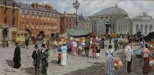 FRANCESCO TAMMARO (B.1939) PARISIAN STREET SCENE