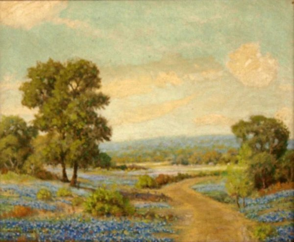 "PAINTING, ""BLUEBONNETS"", WALTON LEADER (1877-1966)"