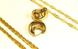 LADIES FINE 14KT YELLOW GOLD JEWELRY GROUPING
