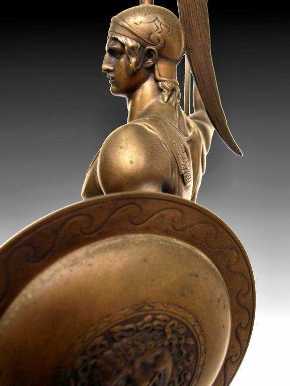 GERMAN BRONZE,ANCIENT GREEK HOPLITE SOLDIER,I GOTZ