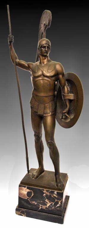 GERMAN BRONZE,ANCIENT GREEK HOPLITE SOLDIER,I GOTZ - 2