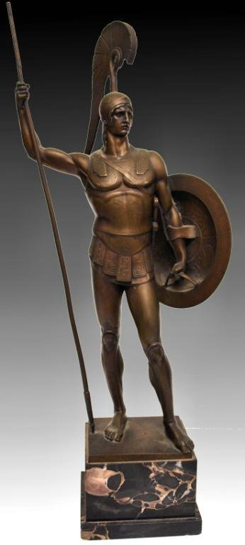 GERMAN BRONZE,ANCIENT GREEK HOPLITE SOLDIER,I GOTZ - 3