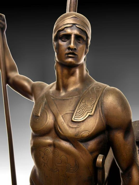GERMAN BRONZE,ANCIENT GREEK HOPLITE SOLDIER,I GOTZ - 4