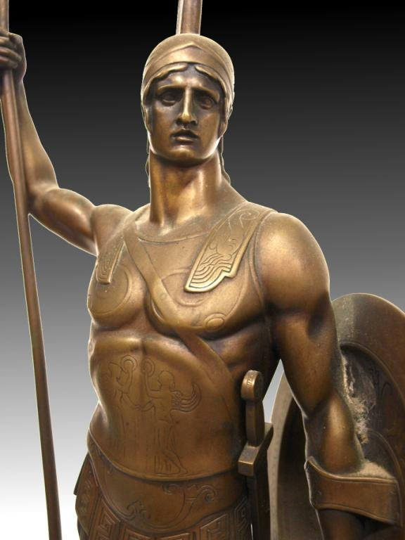 GERMAN BRONZE,ANCIENT GREEK HOPLITE SOLDIER,I GOTZ - 5