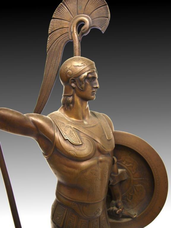 GERMAN BRONZE,ANCIENT GREEK HOPLITE SOLDIER,I GOTZ - 6