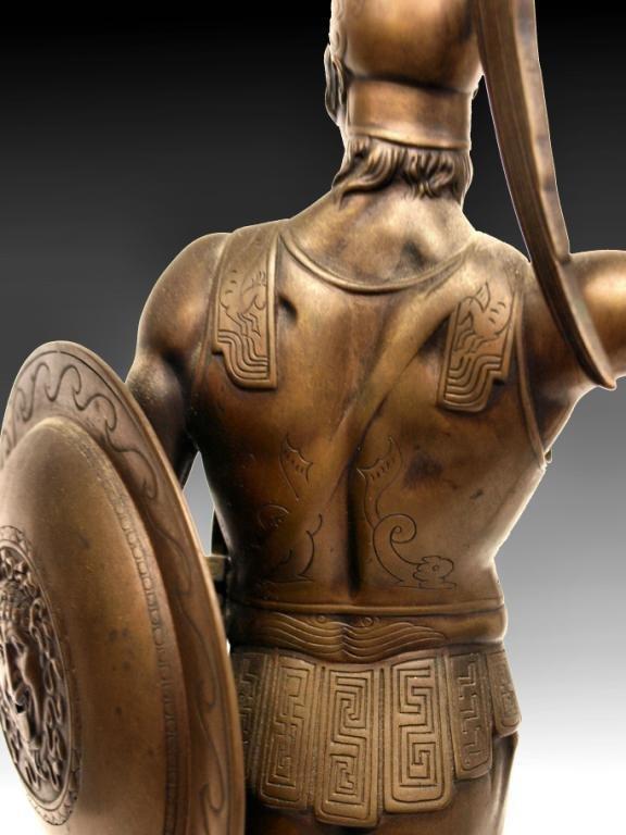 GERMAN BRONZE,ANCIENT GREEK HOPLITE SOLDIER,I GOTZ - 7