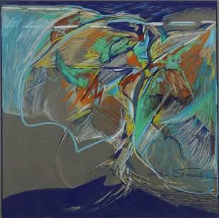 CHARLES ARTHUR TURNER (TX, B.1940) MODERN DRAWING