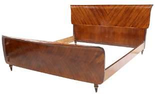 ITALIAN MID-CENTURY MODERN ROSEWOOD BED