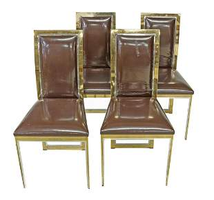 (4) ROMERO REGA (ATTRIB.) MID-CENTURY METAL CHAIRS