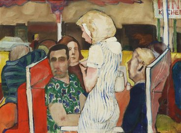 ROBERT YARBER (B.1948) DINER OIL PAINTING, 1966