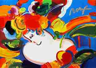PETER MAX (B.1937) ACRYLIC FLOWER BLOSSOM LADY