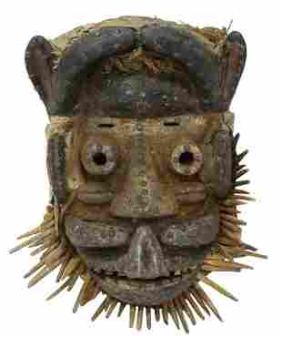 AFRICAN DAN/ GREBO TRIBAL CARVED WOOD MASK