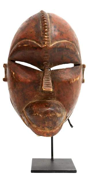 LARGE AFRICAN CARVED WOOD MASK