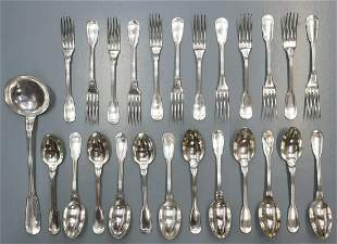 (25) FRENCH SILVER PLATE FLATWARE