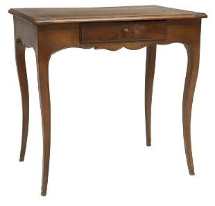 FRENCH LOUIS XV STYLE OAK WORK OR WRITING TABLE