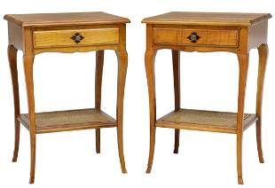 (2) FRENCH LOUIS XV STYLE FRUITWOOD NIGHTSTANDS