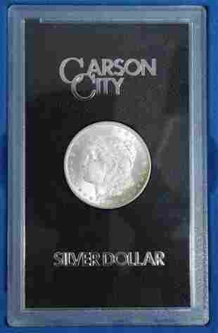 U.S. CARSON CITY 1882 SILVER DOLLAR, UNCIRCULATED