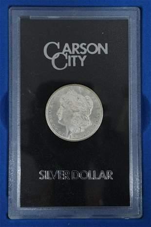 U.S. CARSON CITY 1883 SILVER DOLLAR, UNCIRCULATED