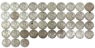 (43) U.S. WALKING LIBERTY HALF DOLLARS, 1943