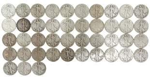 (43) U.S. WALKING LIBERTY HALF DOLLARS, 1943, 1944