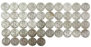 (45)US WALKING LIBERTY HALF DOLLARS 1943 1944 1945