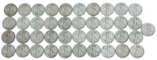 (41) U.S. WALKING LIBERTY HALF DOLLARS, 1945, 1946