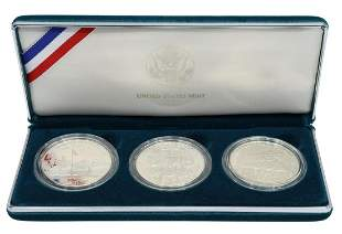 U.S. VETERANS COMMEMORATIVE THREE PROOF COINS