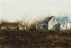 MARK STEWART (TX, B.1951) WATERCOLOR PAINTING