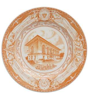 WEDGWOOD UT 'OLD LIBRARY' COMMEMORATIVE PLATE