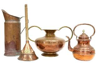 (4) FRENCH & ENGLISH COPPER HOUSEHOLD ITEMS