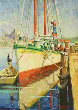 J. AUGUSTUS WALKER (1901-1967) SHIP PAINTING