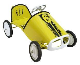 REFURBISHED CHILD'S PEDAL CAR, 20TH C.