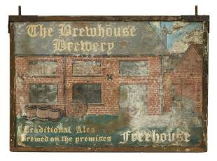 ENGLISH BREWHOUSE BREWERY DOUBLE-SIDED PUB SIGN