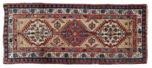 "ANTIQUE PERSIAN SARAB RUG, 7'6"" X 3'3"""