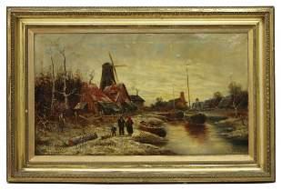 MARINUS A. VAN STRATEN (1808-1863) RIVER MILLS